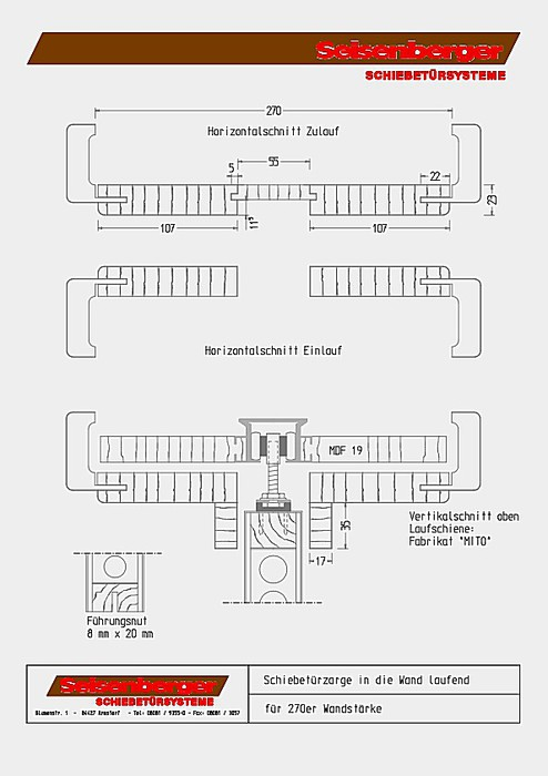 Seisenberger Schiebetursysteme Gmbh Zeichnungen